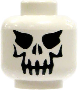 LEGO LOOSE Head Evil Skull