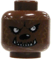 LEGO LOOSE HEAD Brown Werewolf