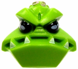 LEGO LOOSE HEAD Bright Green Sculpted Wide Mouth Alien Head