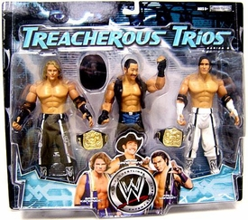 WWE Wrestling Exclusive Series 6 Treacherous Trios Action Figure 3-Pack Paul London, Brian Kendrick & Jimmy Wang Yang