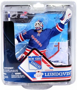 McFarlane Toys NHL Sports Picks Series 32 Action Figure Henrik Lundqvist (New York Rangers) Blue Jersey Collector Level Only 2,000 Made!