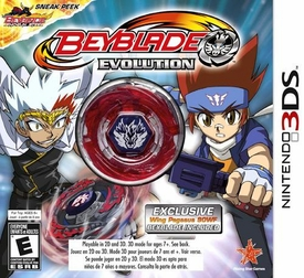 EXCLUSIVE Nintendo 3DS BEYBLADE Evolution Game with Wing Pegasus 90WF INCLUDED!