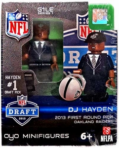 OYO Football NFL Draft First Round Picks Building Brick Minifigure DJ Hayden [Oakland Raiders] #12 Draft Pick