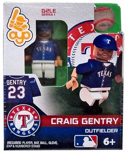 OYO Baseball MLB Generation 2 Building Brick Minifigure Craig Gentry [Texas Rangers]