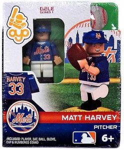 OYO Baseball MLB Generation 2 Building Brick Minifigure Matt Harvey [New York Mets]