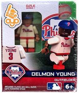 OYO Baseball MLB Generation 2 Building Brick Minifigure Delmon Young [Philadelphia Phillies]