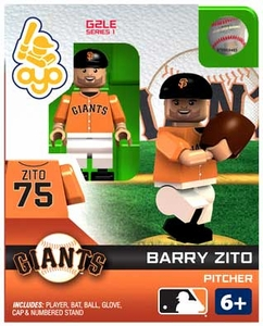 OYO Baseball MLB Generation 2 Building Brick Minifigure Barry Zito [San Francisco Giants]