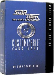 Star Trek The Next Generation Decipher Customizable Card Game 60 Card Starter Deck [White Border Edition]