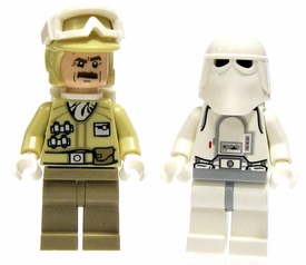 LEGO Star Wars LOOSE Mini Figure Set Hoth Snowtrooper Vs. Hoth Rebel Trooper