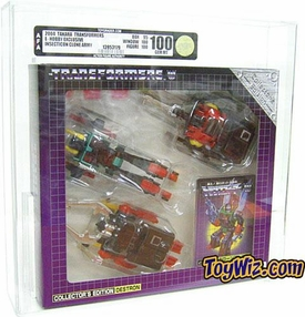 Transformers Takara e-Hobby Shop Diaclone Insecticon Set AFA Graded 100