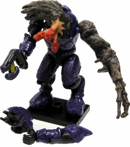 Halo Wars Mega Bloks LOOSE Mini Figure Articulated Flood Purple Infected Elite with Plasma Pistol & Alternate Parts