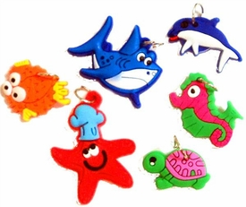 Charms for Rainbow Band Loom Bracelets Ocean Theme Charms [6 Charms]