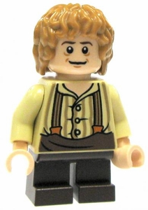 LEGO Hobbit LOOSE Mini Figure Bilbo Baggins in Tan Shirt & Suspenders