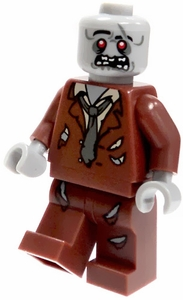 LEGO Minifigure LOOSE Mini Figure Zombie in Brown Tattered Suit