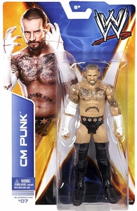 Mattel WWE Wrestling Basic Series 36 Action Figure #07 CM Punk