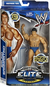 Mattel WWE Wrestling Elite Series 25 Action Figure Bruno Sammartino [Hall of Fame Podium & Plaque!]