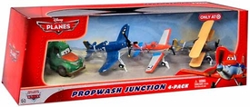Disney PLANES Exclusive 1:55 Die Cast 4-Pack Propwash Junction [Dusty Crophopper, Leadbottom, Skipper & Chug]