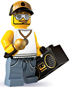 LEGO Minifigure Collection Series 3 LOOSE Mini Figure Male Rapper