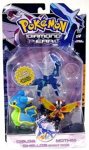 Pokemon Diamond & Pearl Series 5 Basic Figure 3-Pack Dialga, Shellos East & Mothim