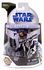 Star Wars 2008 Clone Wars Animated Action Figure No. 4 Captain Rex [Missile Launcher]