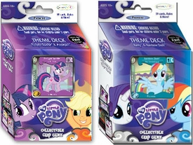 My Little Pony Enterplay Collectible Card Game Set of Both Premiere Theme Decks [Twilight & Applejack Vs. Rarity & Rainbow Dash] Hot!