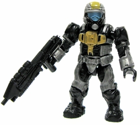 Halo Wars Mega Bloks LOOSE Mini Figure UNSC Yellow & Silver ODST with Assault Rifle