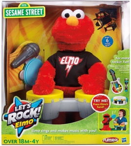 Playskool Sesame Street Electronic Singing Let's Rock Elmo