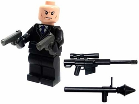 LEGO Military LOOSE Custom MiniFigure Hitman with Tools of the Trade