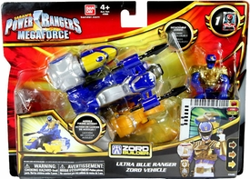 Power Rangers Megaforce Vehicle & Figure Ultra Blue Ranger & Zord