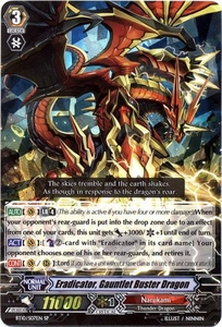 Cardfight Vanguard ENGLISH Triumphant Return of the King of Knights Single Card SP BT10/S07 Eradicator, Gauntlet Buster Dragoni