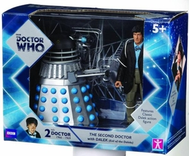 Doctor Who Action Figure 2-Pack 2nd Doctor & Silver Dalek Pre-Order ships April
