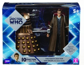 Doctor Who Action Figure 2-Pack 10th Doctor & Gold Dalek Pre-Order ships April