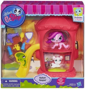 Littlest Pet Shop Playset Hydrant Hangout [Stori & Gail]