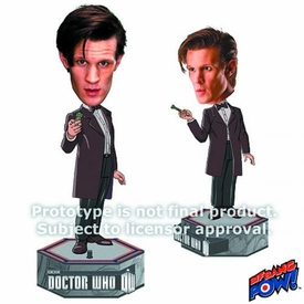 Doctor Who Electronic 11th Doctor Bobble Head with Light-Up Sonic Screwdriver Pre-Order ships April