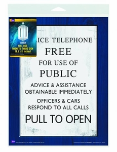 Doctor Who Tardis Sign Flex Magnet New!