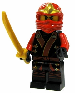 LEGO Ninjago LOOSE Mini Figure Kai in Black & Red Garb