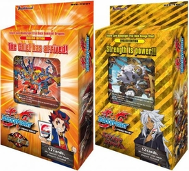 Future Card BuddyFight Set of Both Dominant Dragons & Savage Steel Trial Decks New!