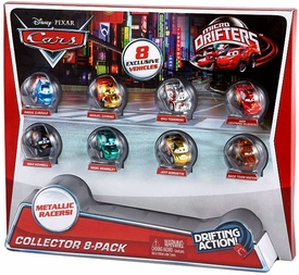 Disney / Pixar CARS Movie Micro Drifters Exclusive Collector 8-Pack  [CaRoule, Camino, Todoroki, McQueen, Schnell, Gearsley, Gorvette & Mater]