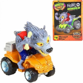 Monster 500 Trading Card & Small Car Figure Werewolf Blitzer