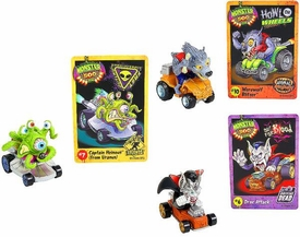 Monster 500 Trading Card & Small Car Collector's 3-Pack [Drac Attack, Captain Heinous , Werewolf Blitzer]