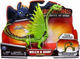 Dragons Defenders of Berk Action Figure Belch & Barf {Zippleback} [Wacky Flex Necks] Hot!