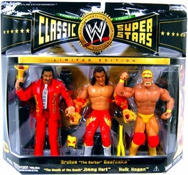 WWE Jakks Pacific Wrestling Classic Superstars Exclusive Series 5 Action Figure 3-Pack Mega Maniacs Brutus Beefcake, Jimmy Hart & Hulk Hogan