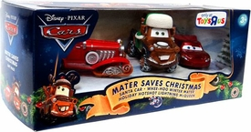 Disney / Pixar CARS Movie 1:55 Die Cast Holiday 2010 Exclusive 3-Pack Mater Saves Christmas [Santa Car, Whee-Hoo Winter Mater & Holiday Hotshot McQueen]
