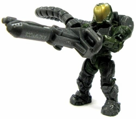 Halo Wars Mega Bloks LOOSE Mini Figure UNSC Green Flame Marine with Flamethrower