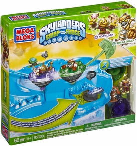 Skylanders SWAP FORCE Mega Bloks Set #95300 Frost Guard Battle Arcade [Hoot Loop & Grilla Drilla] New!