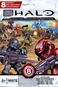 Halo Mega Bloks Series 8 Minifigure Mystery Pack [1 RANDOM Mini Figure]