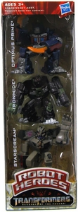 Transformers 2: Revenge of the Fallen Movie Exclusive Robot Heroes 3-Pack Optimus Prime, Ironhide & Starscream