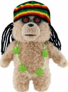 Ted Movie 8 Inch MINI Plush Figure with Sound Ted in Rasta Outfit