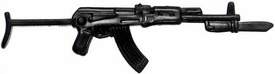 Generic 3 3/4 Inch LOOSE Action Figure Accessory Black AK-47 with Bayonet & Wire Stock