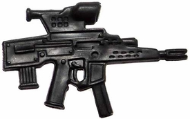 Generic 3 3/4 Inch LOOSE Action Figure Accessory Black Assault Weapon with Scope & Dual Clips